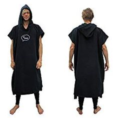 Our Surf Poncho Robe makes it easy to change before/after you surf. No more fumbling with a towel while you change in and out of your wetsuit. Gifts For Surfers, Kabine, Surf Outfit, Rip Curl, Strand, Wetsuit, Surfing, Shirt Dress, Surf Clothes