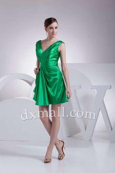 d95140daf5ea Sheath Column Cocktail Dresses V-neck Short Mini Taffeta Green 020010400312  Ονειρικός Γάμος