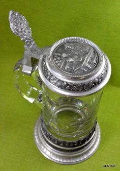 The Lord Of The Rings Glass Tankard Silver One Size
