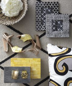 Gold and grey home decor Grey Home Decor, Homesense, Mixing Prints, Living Room Modern, Decoration, Print Patterns, Spring Fashion, Step, Spring Style