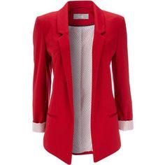 Red Ponte Blazer Jacket