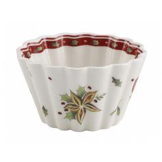 WINTER BAKERY DELIGHT Hrnček na pečenie muffinu, porcelán, 7 x 4 cm