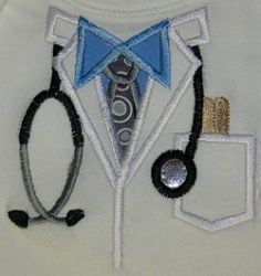 Baby Bodysuit Doctor Applique - 3 Sizes! | Medical | Machine Embroidery Designs | SWAKembroidery