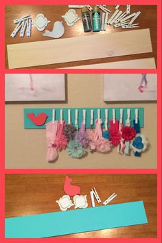 Headband holder                                                                                                                                                     More Baby Headband Holders, Baby Headbands, Baby Crafts, Diy And Crafts, Craft Gifts, Diy Gifts, Organizing Hair Accessories, Bandeau, My Baby Girl