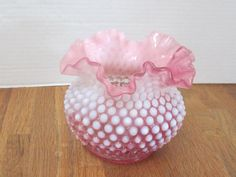 Vintage Fenton Cranberry Pink and White by myabbiesattic on Etsy, $34.99