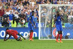 Finale EM 2016: Frankreich-Portugal 0:1 - Eder trifft für Portugal in der Verlängerung -Seinen Schuss konnte Frankreichs Torwart Hugo Lloris nicht halten.