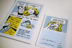 The Comic Strip - Fun Wedding Invitation Set