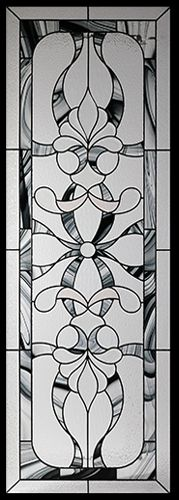 Stained Glass Door Inserts - Royale 22x64 Stocked by Randal's Wrought Iron & Stained Glass serving the Greater Toronto Area and surrounding areas.
