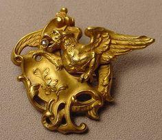 Antique Griffin Diamond Fix Pin For Sale | Antiques.com | Classifieds