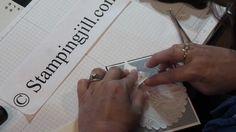 Stampinjill - texturized fabric wedding card