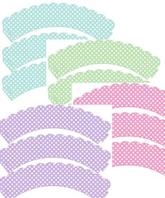 Free Printable - Baby Shower Polka Dot Cupcake Wrappers in pink, blue, lime or lavender