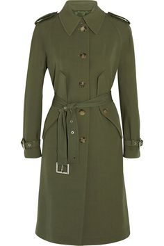 Shop on-sale Michael Kors Collection Wool-gabardine trench coat. Browse other discount designer Coats & more on The Most Fashionable Fashion Outlet, THE OUTNET.COM