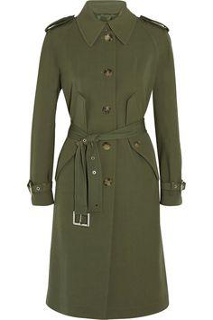 MICHAEL KORS Wool-gabardine trench coat. #michaelkors #cloth #coat