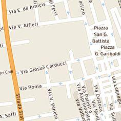 Mappa di San Benedetto del Tronto - Via Luigi Mercantini - CAP 63074, stradario e cartina geografica   Tuttocittà