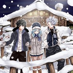 Gray Fullbuster, Juvia Lockser & Lyon Vista || Fairy Tail