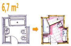 small bathroom floor plans 3 option best for small space mimari pinterest small bathroom. Black Bedroom Furniture Sets. Home Design Ideas