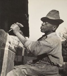William Edmondson, Sculptor, Nashville, Tennessee, 1937.