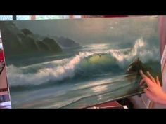 Научиьтся рисовать море с луной Александр Южаков - YouTube