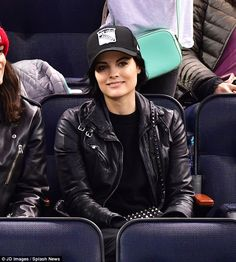 Rock chic: Jaimie Alexander, 32, enjoyed some well-earned downtime on Saturday as she join...