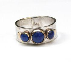 Blue Lapis Lazuli ring, Engagement Ring,14k gold ring silver ring, MADE TO ORDER. Lapis ring, gift f