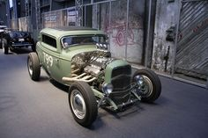 Ford Three Window Coupe Hot Rod