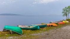 It's raining on lake Pallasjärvi - photo heinakenka