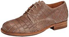 Shabbies Amsterdam Shabbies derby lace up shoe round last leather sole antislip Chelsea, Derbies à lacets femme