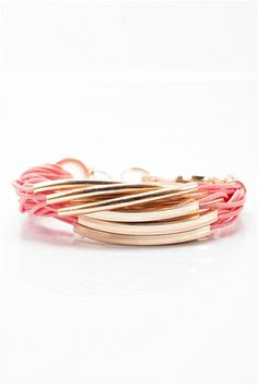 Slap on the Wrist Corded Bracelet - Pink from Jewelry & Accessories at Lucky 21