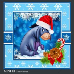 Christmas Eeyore by Isabel Neves Mini Kit Includes: Card Front, Mini Print & Fold Card, Card Insert, Tiles, Decoupage, Sentiment Tags and…