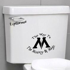 Ministry Of Magic Bathroom Wall Sticker Toilet Seat Sticker - Funny Harry Potter Toilet Seat Vinyl Decal Stickers Bathroom Wall Stickers, Ministry Of Magic, Camille, Funny Stickers, Kitchen Countertops, New Kitchen, Vinyl Decals, Harry Potter, India