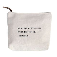 Be In Love With Your Life Quote Canvas Bag