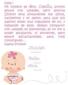 Simple tarjeta para Baby Shower con dibujo de bebé