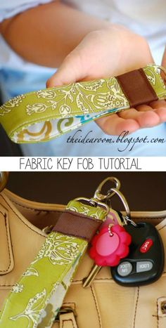 Learn how to make a fabric keychain in a few simple steps! Perfect way to use those scraps you've been hanging onto!