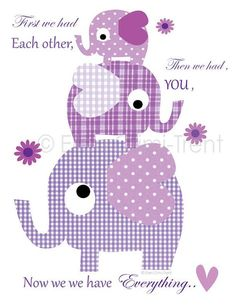 With a heartwarming message, this whimsical elephant print is sure to make little ones feel oh-so special. A delightful addition to a nursery, bedroom or playroom, this print instantly brightens décor. Available in multiple sizesPaper / inkMade in the USA Applique Templates, Applique Patterns, Applique Designs, Kids Wall Decor, Baby Decor, Patchwork Baby, Elephant Print, Elephant Applique, All Things Purple