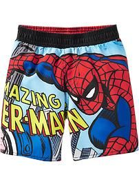 every lil dude should have some spiderman swim trunks :D