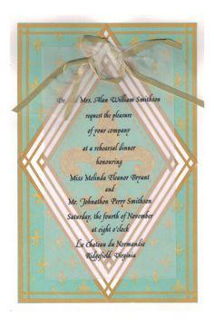 Fleur De Lis Invitation from Odd Balls Party Invitations