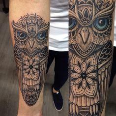 The coldest eyes #tattoo #owl #mandala #goodtimes #natural #freedrawing