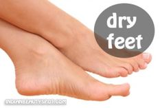 dry feet scrub - baking soda, olive oil, lemon juice or apple cider vinegar to make a thick scrub. Rub in circular motion on feet for 5-10 min to get rid of dry, dead skin.  With scrub on feet wrap with plastic wrap for 15 minutes than rinse with warm water.