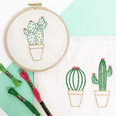 Broderies cactus / Cactus embroidery