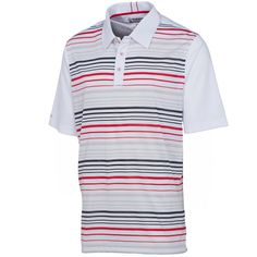 Sunice Golf Lucas Coollite Golf Shirt Pure White