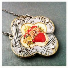 Immaculate Heart Necklace By Roia O'Brien  by RoiaOBrienJewelry, $110.00