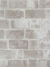 Faux Grey Brick Wallpaper - Textured Brick