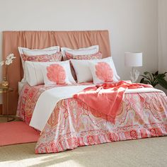 Image 1 of the product Coral Paisley Print Bed Linen