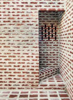 Belægning, belægningstegl, tegl, kliker, terrasse, Ziegel, bricks. indoor, indretning Klinke gulv og trappe Tham & Videgård - Creek house, Skåne 2014. Via, 2, photos © Åke E:son Lindman.