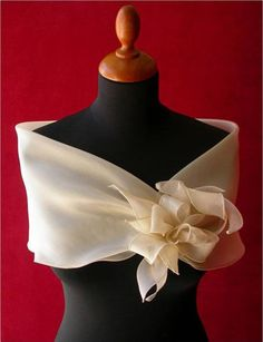 estola ou echarpe para festa de casamento cor neutra- diy - faça você mesmo - costura