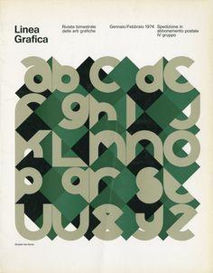 linea grafica - rivista bimestrale delle arti grafiche, italy (1970-76)