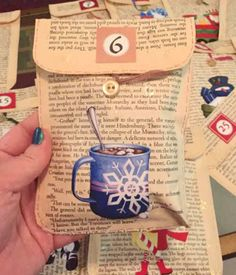 Advent Envie Close Up - Picture 2 of 3   I made envies from …   Flickr Christmas Crafts, Xmas, Cute Envelopes, Old Book Pages, Programming For Kids, Close Up Pictures, Vintage Books, Advent, Diy Crafts