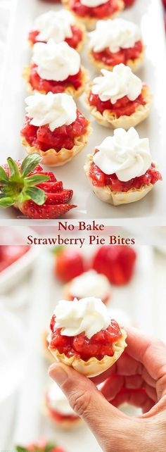 No Bake Strawberry Pie Bites - easy to make and hard to resist!