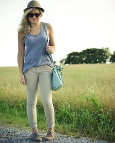 casual look || tank, cuffed pants, oxfords, fedora