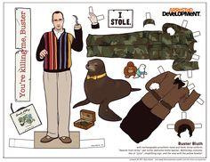 figurine papier arrested devellopment poupee illustration 05 Figurines en papier des personnages dArrested Development  design bonus